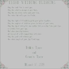 Irish Wedding Blessing Sampler Cross Stitch Pattern