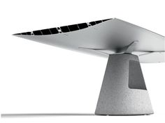 Konstantin Grcic Industrial Design. BD Barcelona. Table_B. Aluminium Top  Using Extruded Profile Like