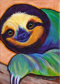 18 Sloth Painting Ideas Sloth Painting Sloth Art