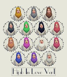 The Sims 4 | Hijab In Love Ver1 by stuffbyme7 | CAS hat accessory head scarf new mesh for female adult #uninstalled