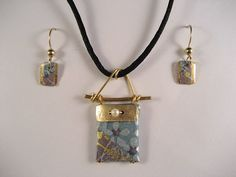 japanese washi paper origami purse pendant and earrings by heavenly cranes jewelry