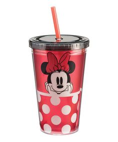 This Disney Minnie Mouse 18-Oz. Travel Tumbler is perfect! #zulilyfinds
