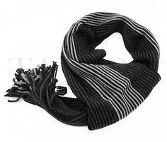 Pánská šála - stylová, tmavě šedý pruh