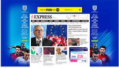 Express - Big fireplace advert along with a smaller banner and more smaller ads