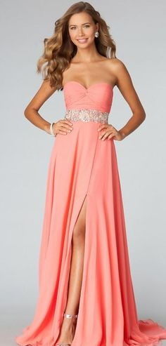Embellished Natural Sleeveless Chiffon A-Line Floor Prom Dresses In Stock momodresses29507