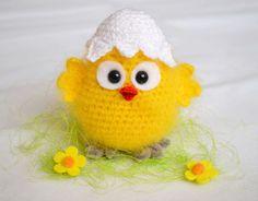 CROCHET PATTERN Easter Chicken Crochet Chicks Eggshell