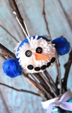 Pom Pom Snowman Craf