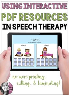 Are you tired of printing, cutting, and laminating to prep for speech therapy sessions? Or do you need something more engaging for your students? Interactive PDFs are an easy way to solve both of these problems, whether you do teletherapy or face-to-face therapy! #speechtherapy #noprintspeechtherapy #digitalspeechtherapy #ipadspeechtherapy #interactivePDF
