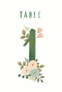 printable table numbers - 1
