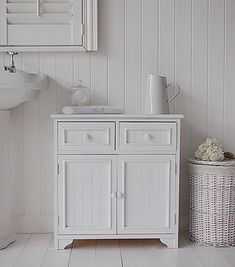 Beach free standing bathroom cabinet furniture with drawers | Home ...