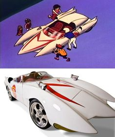 10 Real Cars Inspired by Cartoons - real life cars, cars from cartoons - Oddee Cartoon Cartoon, Classic Cartoons, Cool Cartoons, Speed Racer Cartoon, Life Car, Car In The World, Hot Cars, Custom Cars, Concept Cars