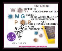 RISE & SHINE Splurge Creme-Lidschatten 3er Set Shine Augen-Make-up…