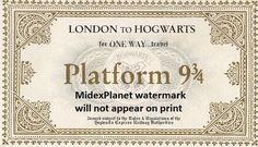 Hogwarts Express Ticket Printable Harry Potter by MidexPlanet