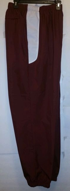 Roundtree &Yorke Mens SZ XXL red white track active warm up sweatsuit pants in Athletic Apparel | eBay