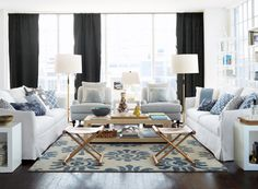 More blue for the home via The Style Files: Serena & Lily | La Dolce Vita