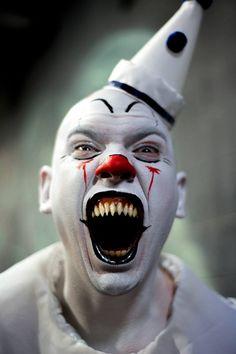 ~ CREATE A CARD ~Frightful/ scary clown card design