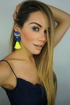 Blue Earrings Colorful EarringsFringe EarringsBridal