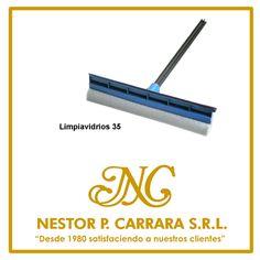 "Secadores - Limpiavidrios 35 cm l x 12. [Contacto]:  www.nestorcarrarasrl.wordpress.com  Néstor P. Carrara S.R.L ""Desde 1980 satisfaciendo a nuestros clientes"""