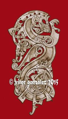 Ars Celtica. Celtic & Norse Art by Vítor González.  Winged Dragon.  Commissioned by Matthew C. Copyright image, not for use. Destination Wales.