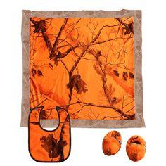 Camo Celebrations  - Realtree AP Blaze Boxed Baby Gift set, $29.99 (http://www.camocelebrations.com/realtree-ap-blaze-boxed-baby-gift-set/)