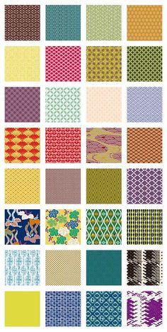 和柄の伝統文様やパターンを使った背景イラスト素材(9)