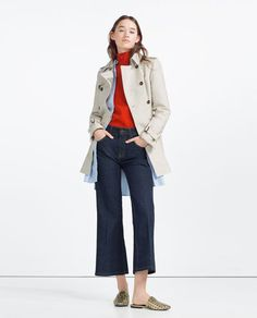 ZARA - WOMAN - COTTON TRENCH COAT