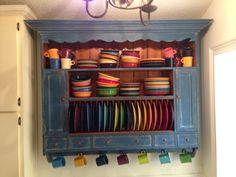 Finally found the perfect plate rack (Chalon) for my Fiesta Ware. & how to make a plate rack insert - Bing Images | Kitchen | Pinterest ...