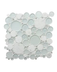 What cool tiles for the bath! Can be kid-friendly or sophisticated