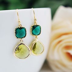 Bride + Bridesmaid Jewelry Ideas with Earrings Nation