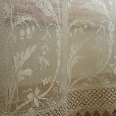 Shabby Chic Heritage Lace Coventry Curtain Panel With Trim   Walmart.com