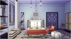Vicarious Sims — the Glamourista Apartment Perfect for a social...