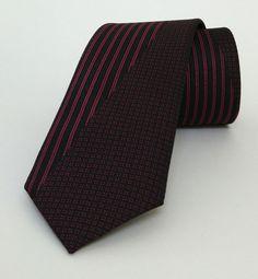 Black and Burgundy Mens Tie 6,5 cm (2,56 #handmadeatamazon #nazodesign