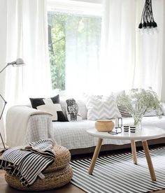 Vicky's Home: 10 ideas de decoración con rayas / 10 ideas for decorating with stripes