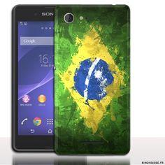 #Coque #drapeau #Bresil pour #Sony #E3, coque #portable Sony