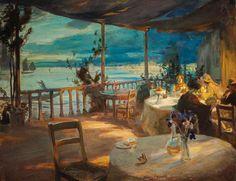 Charles Hodge Mackie (1862 - 1920) British   Belvedere, Venice - 1910