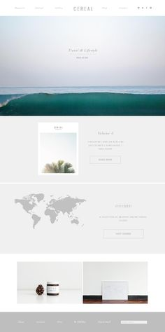 Clean web design with soft color http://readcereal.com/