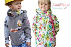 Nähanleitungen Kind - eBook AnniNanni Kinderjacke - ein Designerstück von Anni-Nannis bei DaWanda