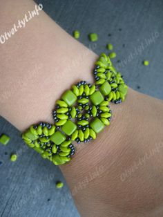 SuperDuo and Tile Bracelet Master class. Detailed pictures. #Seed #Bead #Tutorials