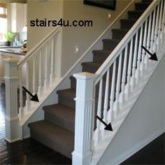 banister with knee wall and carpet - Google Search