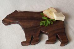 Walnut Bear Shaped Cutting board
