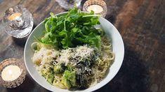 Pâtes citron et avocat Quebec, Seaweed Salad, Low Carb Keto, Poultry, Vegan Recipes, Vegan Meals, Cabbage, Spaghetti, Rice