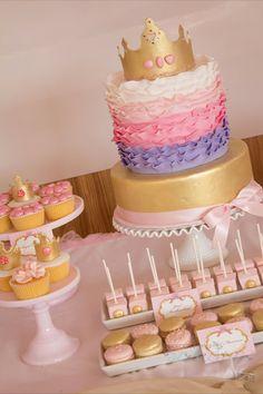 Little Big Empresa | O Blog: Pink Royal Princess Festa para o 1 º aniversário de Milania por Natalie.
