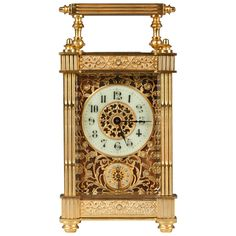 French Bronze Carriage Clock, 19th Century | From a unique collection of antique and modern clocks at https://www.1stdibs.com/furniture/more-furniture-collectibles/clocks/