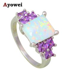 Good price Attractive Rings for Women White Fire Opal Silver Stamped Zirconia Fashion Jewelry Rings USA sz #6#7#8#9 OR772A just only $5.93 with free shipping worldwide  #weddingengagementjewelry Plese click on picture to see our special price for you