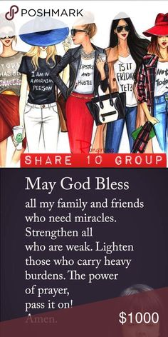 Sunday (Open) Share 10 items from each persons closet who signs up. You may begin sharing anytime. Group closes at 2 PM Est. You have until midnight to complete your shares! As always everyone is welcome as long as your closet is posh compliant😉. I know many of us join several groups. Please keep track of how many shares are due for each group to ensure everyone is being shared equally. Please let me know if any issues arise on the Q&A listing. Accessories