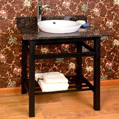 "36"" Modern Console Vanity - Semi-Recessed Sink | Fixitreno"