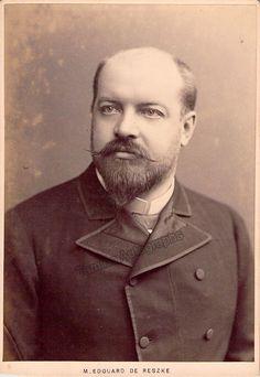 De Reszke, Edouard - Signed Cabinet Photo