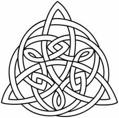 A triangular Celtic knot is perfect for pouches, journal covers, and more. Downloads as a PDF. Use pattern transfer paper to trace design for hand-stitching.