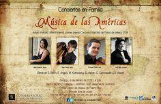 Conciertos en Familia: Música de las Ámericas @ Conservatorio de Música de Puerto Rico, Miramar #sondeaquipr #conciertosenfamilia #musicadelasamericas #cmpr #miramar #sanjuan