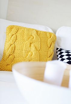 yellow pillow - need to find me a sweater